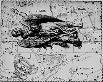 Virgo Constellation, by Hevelius.